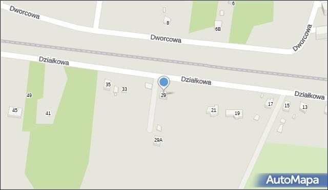 Poręba, Działkowa, 29, mapa Poręba