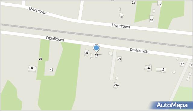 Poręba, Działkowa, 33, mapa Poręba