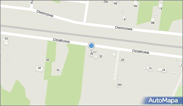 Poręba, Działkowa, 35, mapa Poręba
