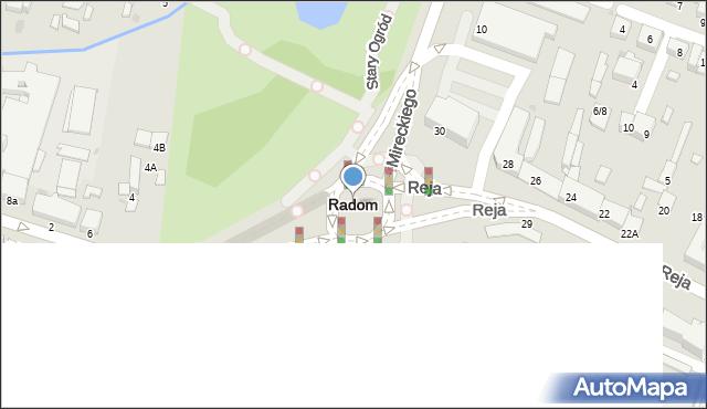 Radom, Dzika, 14, mapa Radomia