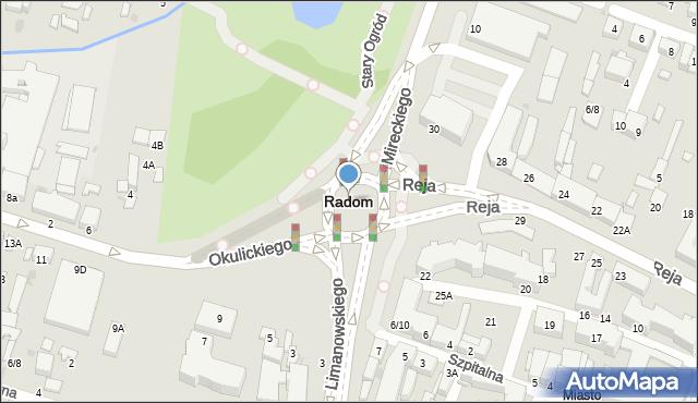 Radom, Dzika, 2/4, mapa Radomia