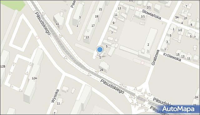 Sosnowiec, Dziewicza, 1, mapa Sosnowca