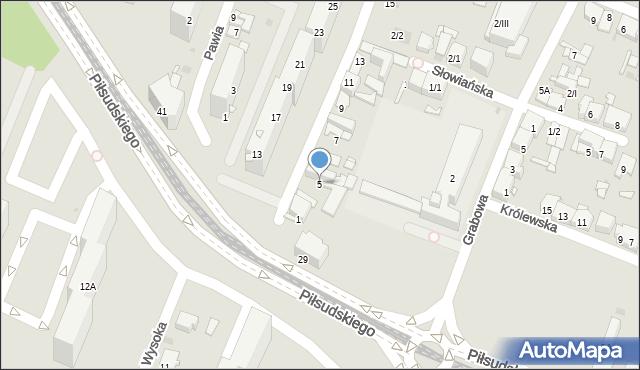 Sosnowiec, Dziewicza, 5, mapa Sosnowca