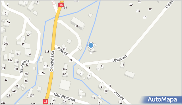 Toruń, Działowa, 1, mapa Torunia