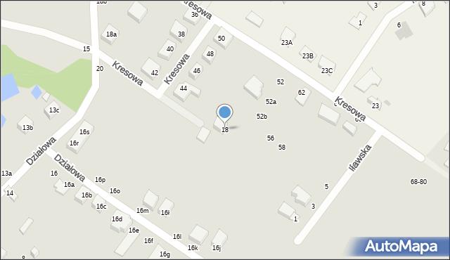 Toruń, Działowa, 18, mapa Torunia