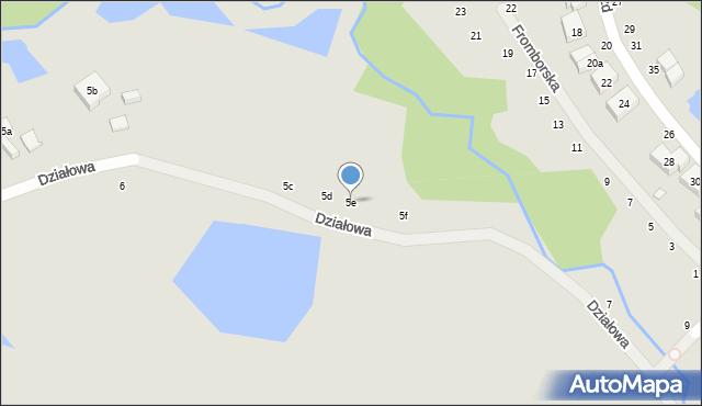Toruń, Działowa, 5e, mapa Torunia