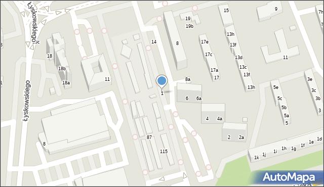 Toruń, Działowskiego Zygmunta, 1, mapa Torunia