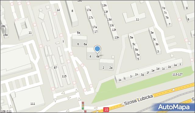 Toruń, Działowskiego Zygmunta, 4a, mapa Torunia