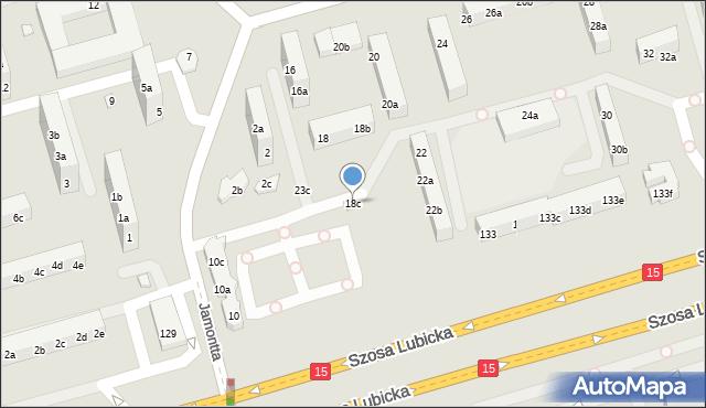 Toruń, Dziewulskiego Władysława, 18c, mapa Torunia