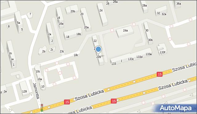 Toruń, Dziewulskiego Władysława, 22b, mapa Torunia