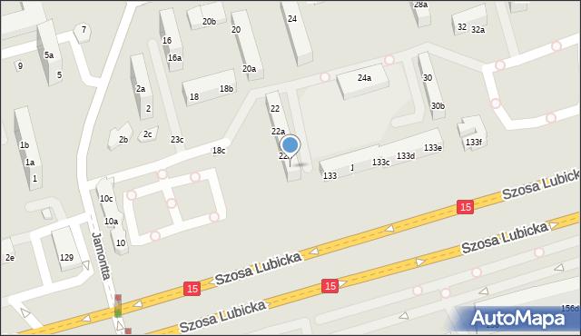 Toruń, Dziewulskiego Władysława, 22c, mapa Torunia
