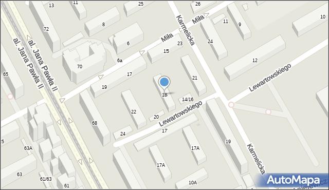 Warszawa, Edelmana Marka, 18, mapa Warszawy