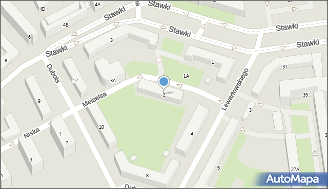 Warszawa, Edelmana Marka, 2, mapa Warszawy