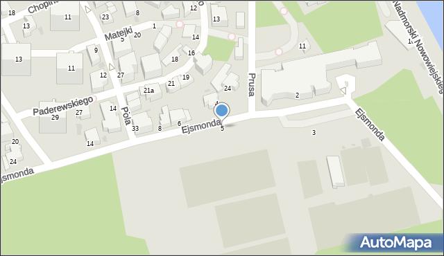 Gdynia, Ejsmonda Juliana, 5, mapa Gdyni