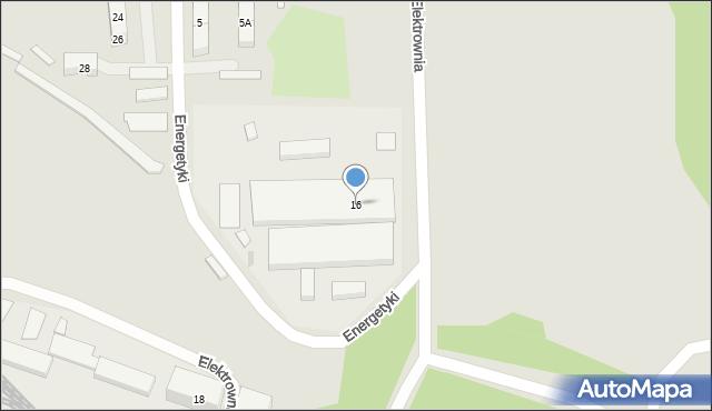 Bytom, Elektrownia, 16, mapa Bytomia