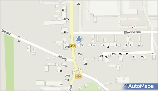 Kalisz, Elektryczna, 1, mapa Kalisza