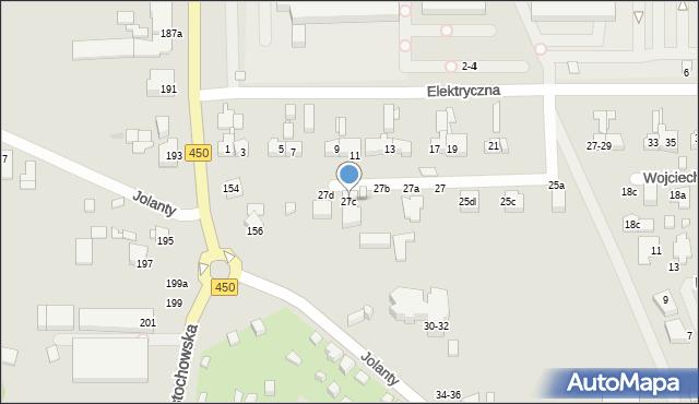 Kalisz, Elektryczna, 27c, mapa Kalisza
