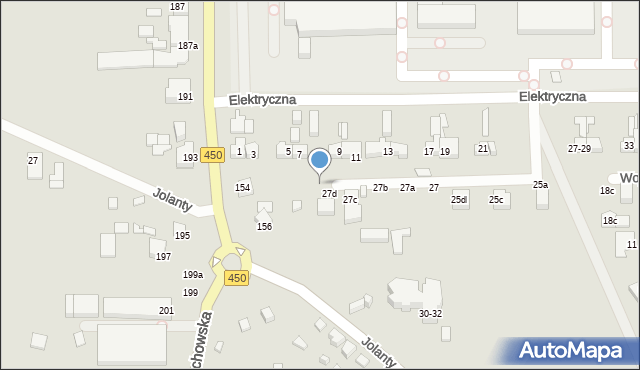 Kalisz, Elektryczna, 27e, mapa Kalisza