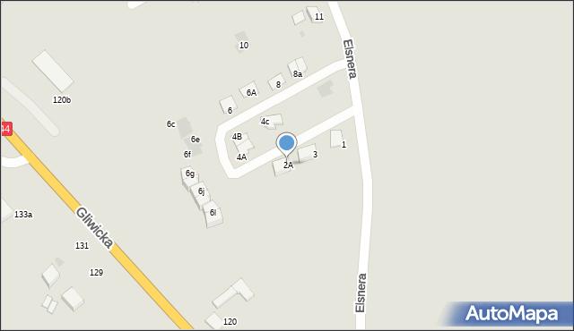 Mikołów, Elsnera Józefa, 2A, mapa Mikołów