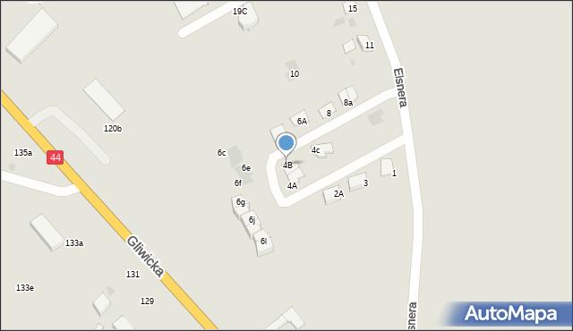 Mikołów, Elsnera Józefa, 4B, mapa Mikołów