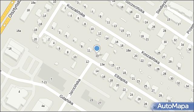 Toruń, Elbląska, 13, mapa Torunia