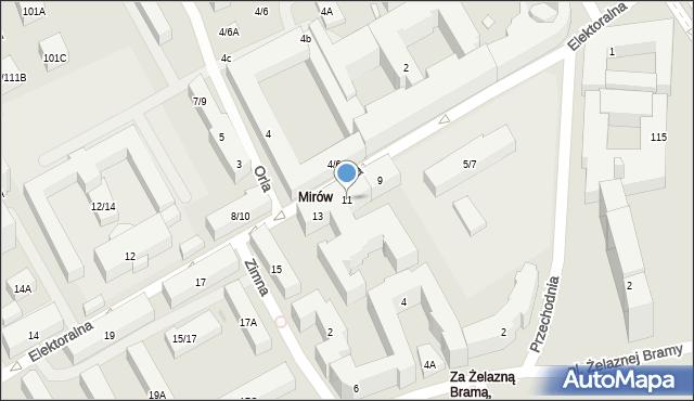 Warszawa, Elektoralna, 11, mapa Warszawy