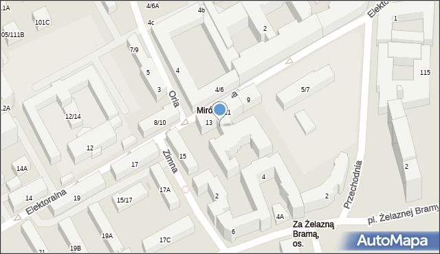 Warszawa, Elektoralna, 13A, mapa Warszawy