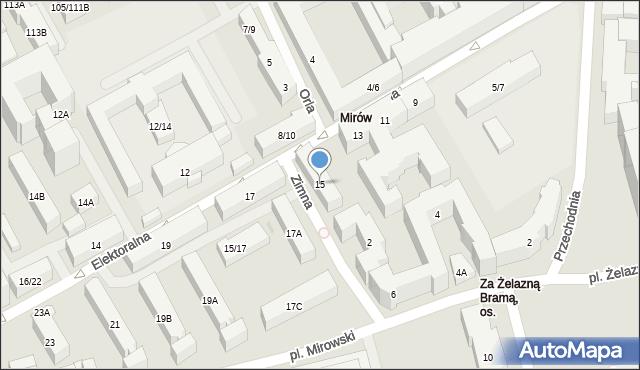 Warszawa, Elektoralna, 15, mapa Warszawy