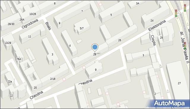 Warszawa, Elektoralna, 28, mapa Warszawy