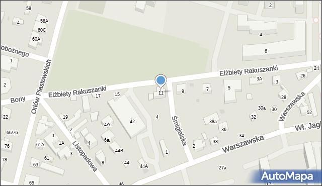 Warszawa, Elżbiety Rakuszanki, 11, mapa Warszawy