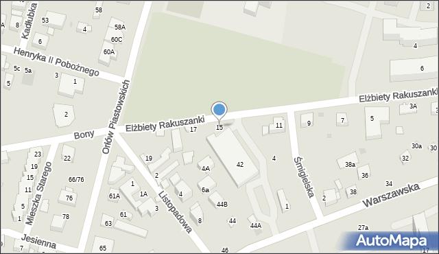 Warszawa, Elżbiety Rakuszanki, 15, mapa Warszawy