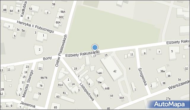 Warszawa, Elżbiety Rakuszanki, 17, mapa Warszawy