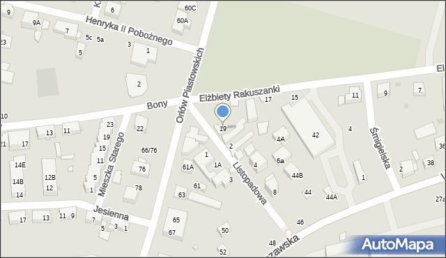 Warszawa, Elżbiety Rakuszanki, 19, mapa Warszawy