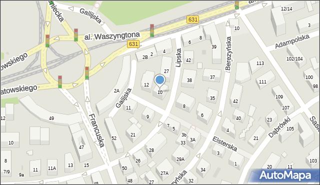 Warszawa, Elsterska, 10, mapa Warszawy