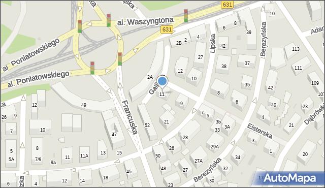 Warszawa, Elsterska, 11, mapa Warszawy