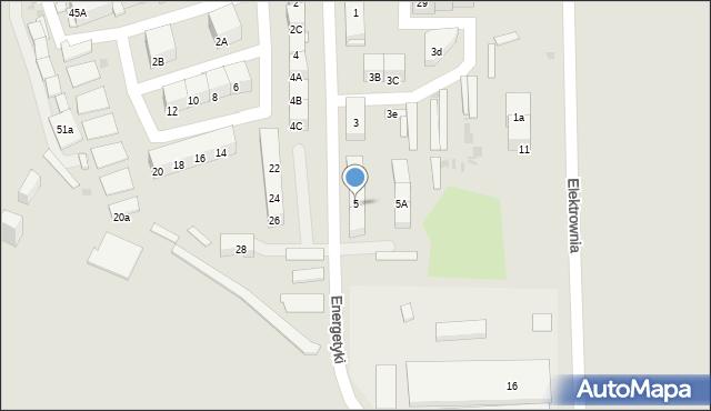 Bytom, Energetyki, 5, mapa Bytomia