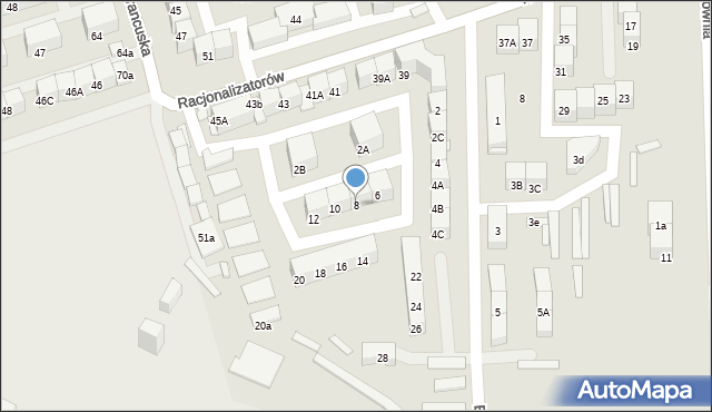 Bytom, Energetyki, 8, mapa Bytomia