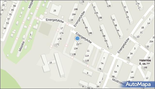 Ruda Śląska, Energetyków, 13, mapa Rudy Śląskiej