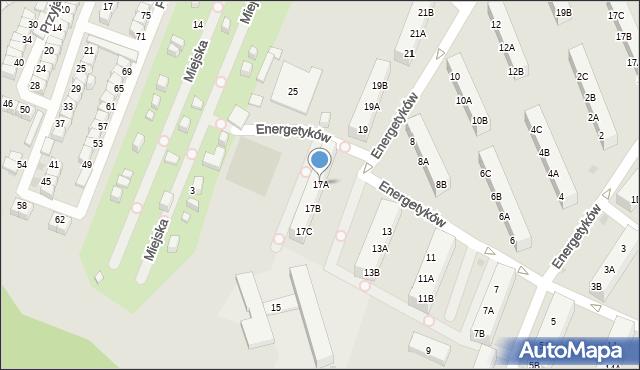 Ruda Śląska, Energetyków, 17A, mapa Rudy Śląskiej