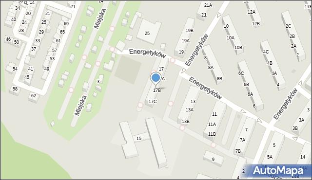 Ruda Śląska, Energetyków, 17B, mapa Rudy Śląskiej
