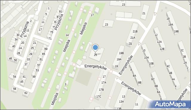 Ruda Śląska, Energetyków, 25, mapa Rudy Śląskiej