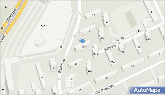 Warszawa, Esperanto, 16, mapa Warszawy
