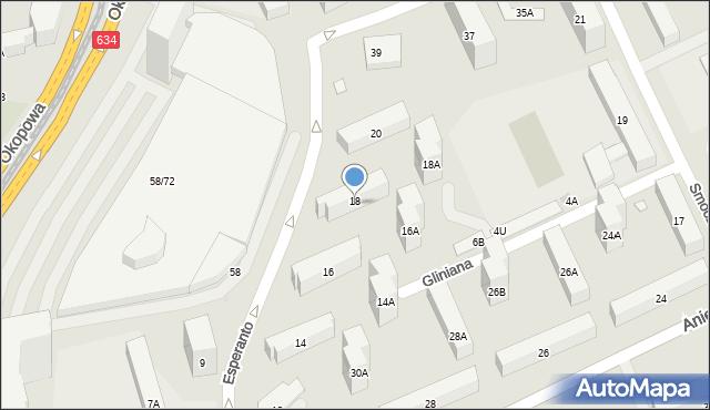 Warszawa, Esperanto, 18, mapa Warszawy