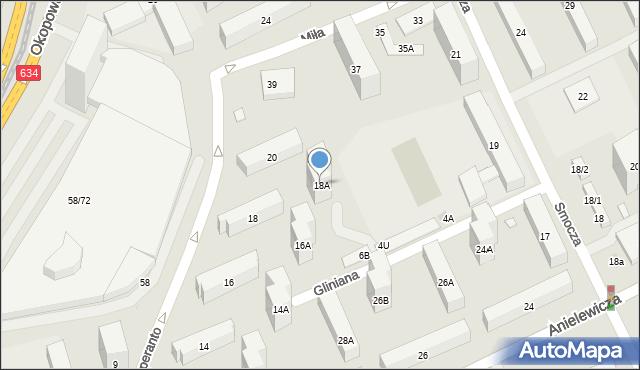 Warszawa, Esperanto, 18A, mapa Warszawy