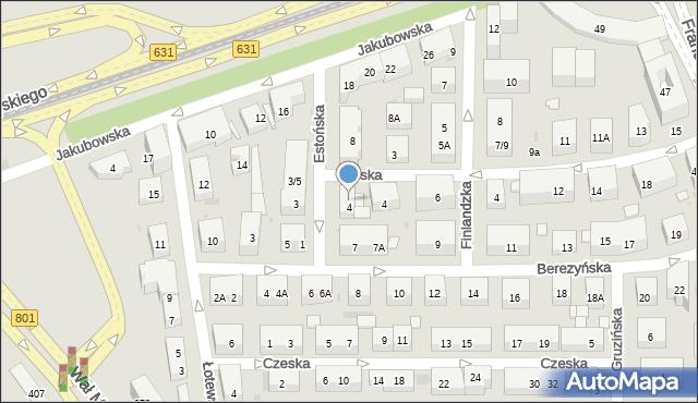 Warszawa, Estońska, 6, mapa Warszawy