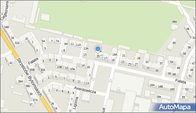 Bytom, Fałata Juliana, 15, mapa Bytomia