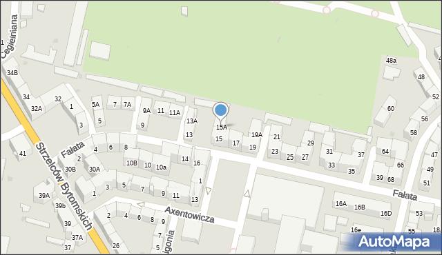 Bytom, Fałata Juliana, 15A, mapa Bytomia