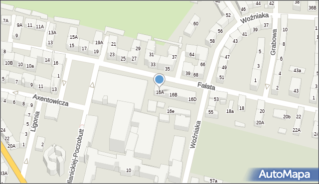 Bytom, Fałata Juliana, 16A, mapa Bytomia