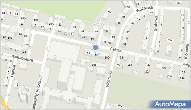 Bytom, Fałata Juliana, 16B, mapa Bytomia