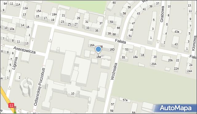 Bytom, Fałata Juliana, 16e, mapa Bytomia